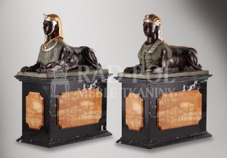 8320/B Pair of sphinxes