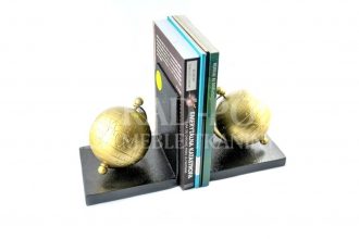 Bookend - złociste globy