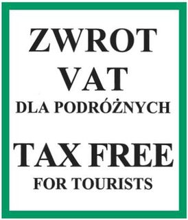 TAX FREE for Tourists!